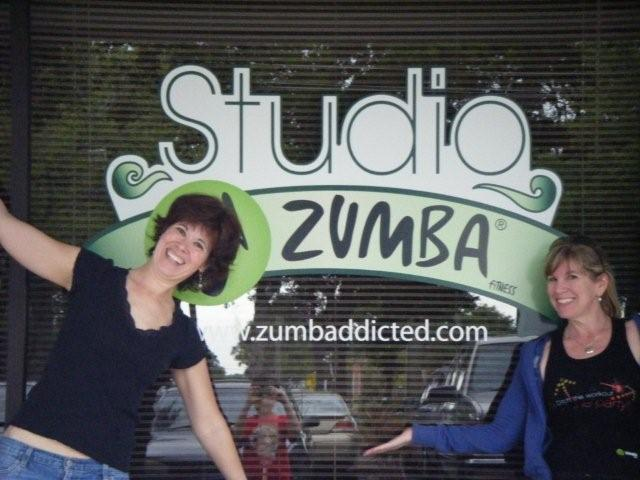 Me and the divine Alyce Howard at studio Zumba